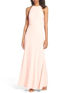 Laundry by Shelli Segal Ruffle Back Gown