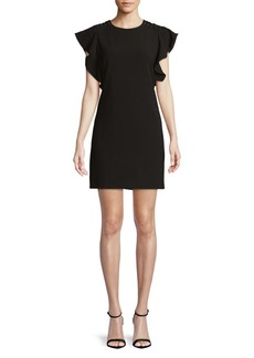 Laundry by Shelli Segal Ruffle-Sleeve Grommet Sheath Dress