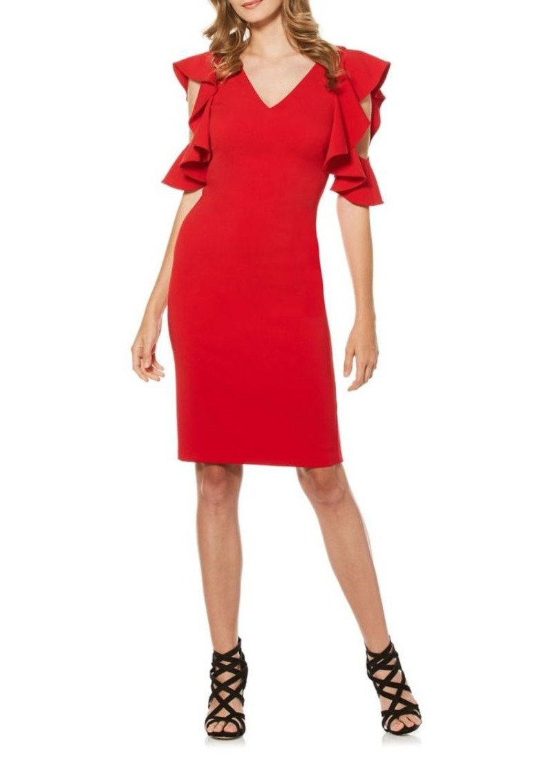 e74973c8c17 Laundry by Shelli Segal Laundry by Shelli Segal Cold-Shoulder Ruffle ...