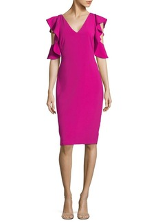 Laundry by Shelli Segal Ruffle Cold Shoulder Cocktail Dress