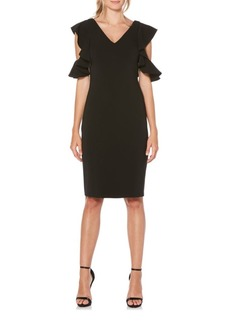 Laundry by Shelli Segal Cold-Shoulder Ruffle Dress