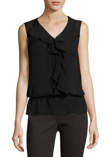 Laundry By Shelli Segal Ruffle-Front Sleeveless Top