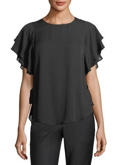 Laundry By Shelli Segal Ruffle-Sleeve Blouse