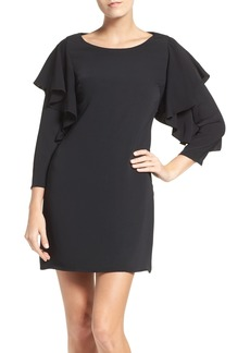 Laundry by Shelli Segal Ruffle Sleeve Shift Dress