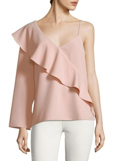 Ruffle-Trim Asymmetrical Top