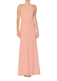 Laundry by Shelli Segal Ruffled Back Gown