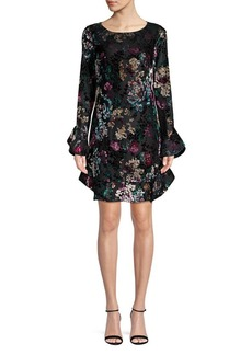 Laundry by Shelli Segal Ruffled Multicolored Printed Dress