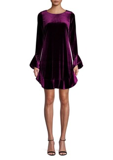 Laundry by Shelli Segal Ruffled Velvet Dress