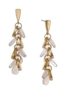 Laundry by Shelli Segal Santa Barbara Goldtone & Mother-Of-Pearl Cluster Drop Earrings