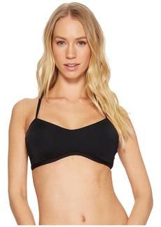 Laundry by Shelli Segal Scallop Lace Ruffle Underwire Bralette Bikini Top