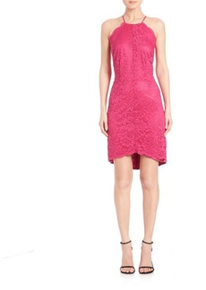 Laundry by Shelli Segal Scalloped Lace Halter Dress