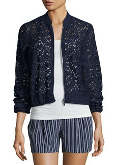 Laundry By Shelli Segal Semisheer Lace Bomber Jacket