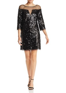 Laundry by Shelli Segal Sequined Illusion Dress
