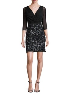 Laundry by Shelli Segal Sequined Shirred Dress