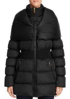 Laundry by Shelli Segal Shawl Collar Puffer Coat