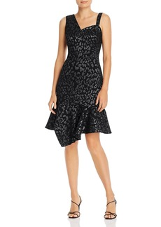 Laundry by Shelli Segal Shimmer Animal-Print Shift Dress