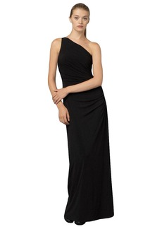 LAUNDRY BY SHELLI SEGAL Side Beaded One Shoulder Gown