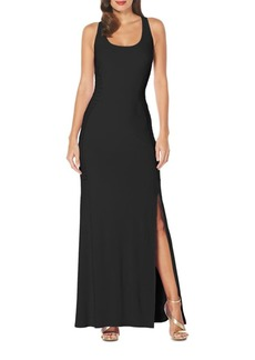 Laundry by Shelli Segal Side-Embroidered Jersey Gown