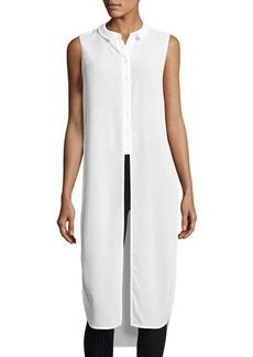Laundry By Shelli Segal Side-Slit Semisheer Sleeveless Tunic
