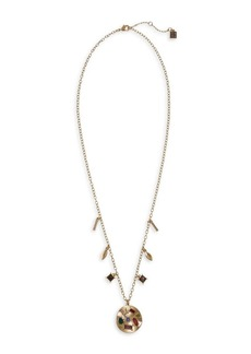 Laundry by Shelli Segal Sierra Shades Goldtone & Crystal Charm Pendant Necklace