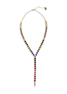 Laundry by Shelli Segal Sierra Shades Goldtone & Multicolored Crystal Y-Necklace
