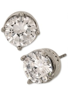 Laundry by Shelli Segal Silver-Tone Cubic Zirconia Stud Earrings