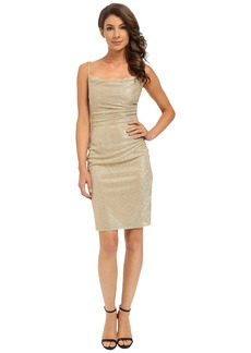 Laundry by Shelli Segal Skinny Strap Side Shirred Dress