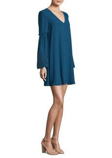 Laundry by Shelli Segal Sleeve Embroidery A-Line Dress