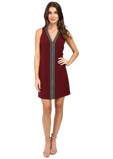 Laundry by Shelli Segal Sleeveless Beaded V-Neck Dress