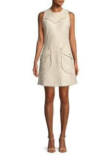 Laundry by Shelli Segal Sleeveless Boucle Dress