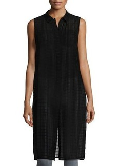 Laundry By Shelli Segal Sleeveless Button-Front Long Tunic