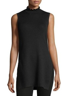 Laundry By Shelli Segal Sleeveless High-Neck Ribbed Tunic