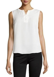 Laundry by Shelli Segal Sleeveless Lace-Up Top