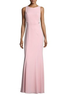 Laundry by Shelli Segal Sleeveless Mesh-Inset Mermaid Gown