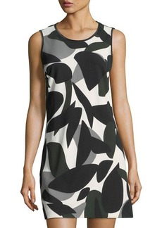 Laundry By Shelli Segal Sleeveless Printed Scuba Dress