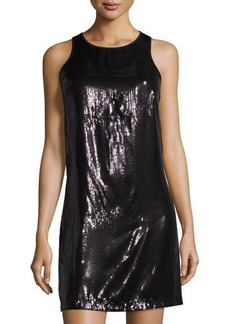 Laundry by Shelli Segal Sleeveless Sequin Trapeze Dress