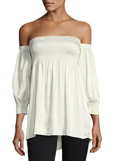 Laundry By Shelli Segal Smocked Off-the-Shoulder Top