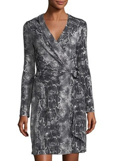 Laundry By Shelli Segal Snake Wrap Dress with Hardwa
