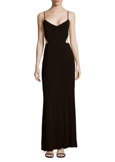 Laundry by Shelli Segal Solid Cutout Gown