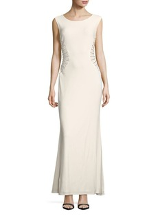 Laundry by Shelli Segal Solid Embellished Gown