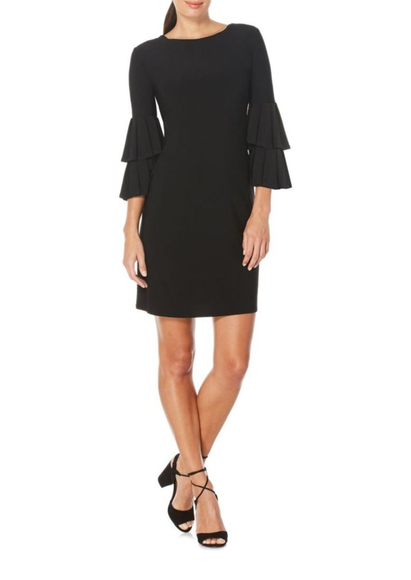 Laundry By Shelli Segal Solid Poet Sleeve Dress