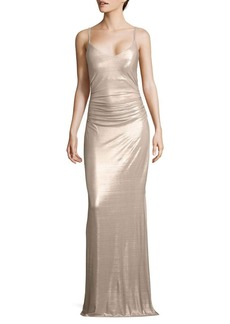 Laundry by Shelli Segal Spaghetti Strap Gown