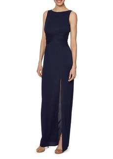 Laundry by Shelli Segal Sparkled Textured Gown