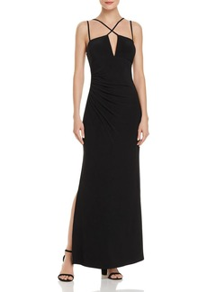 Laundry by Shelli Segal Strap-Detail Gown