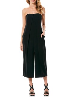 Laundry by Shelli Segal Strapless Crepe Culotte Jumpsuit