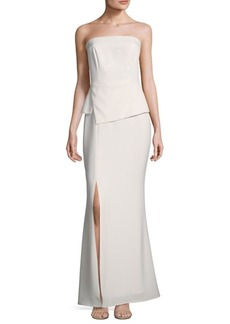 Laundry by Shelli Segal Strapless Floor-Length Gown