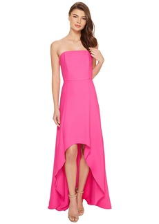 Laundry by Shelli Segal Strapless High-Low Crepe Gown