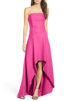 Laundry by Shelli Segal Strapless High/Low Gown