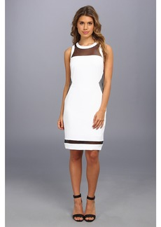 Laundry by Shelli Segal Stretch Crepe And Mesh Dress