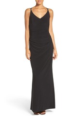 Laundry by Shelli Segal Stretch Gown (Regular & Petite)
